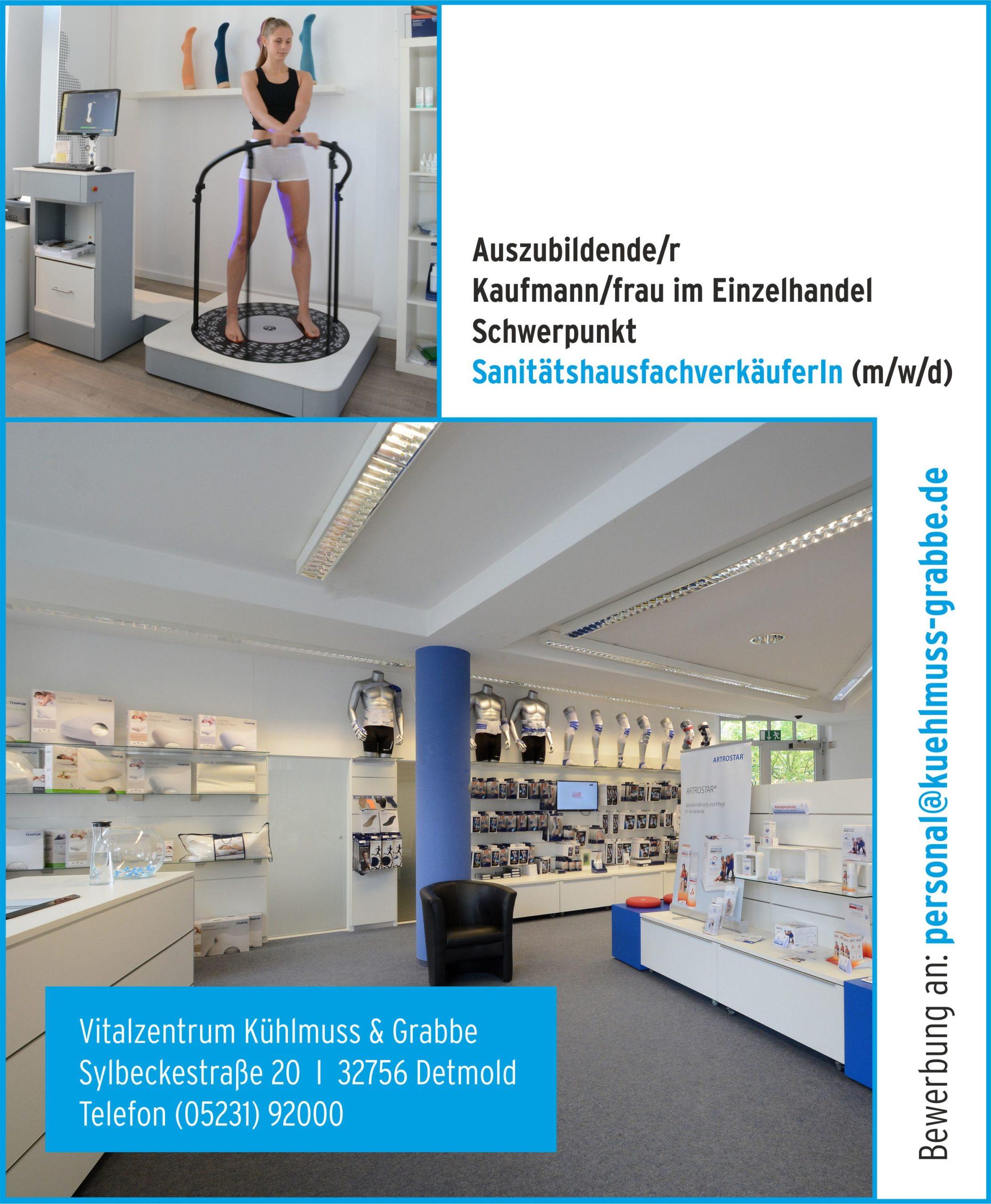 Auszubildende/r Kaufmann/frau im Einzelhandel – SanitätshausfachverkäuferIn (m/w/d)